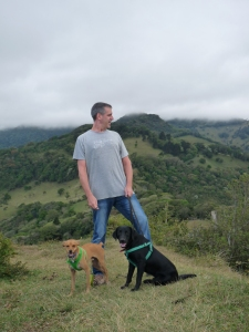 The awesome hubby and dogs