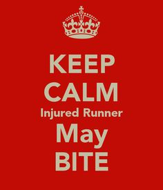 Injured runner may bite