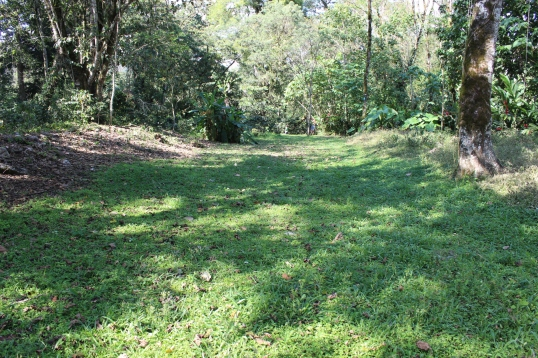 This is an old Lenca ball court. Archaeologists believe, because the Lenca pre-date the Maya, that the Lenca actually invented the infamous ball games the Maya played.